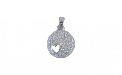 Pandantiv Argint 925, Cerc cu Zirconii