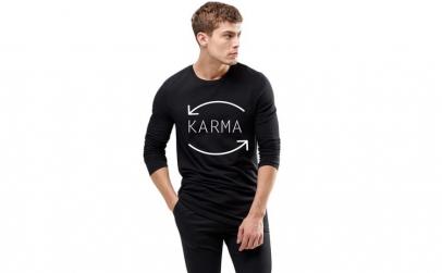 Bluza barbati neagra - Karma