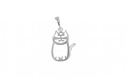 Pandantiv Argint 925, Pisica Contur
