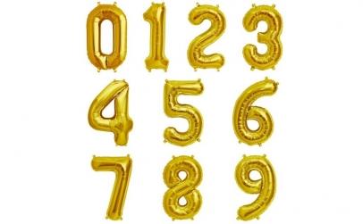 Baloane in forma de cifre - 35 cm