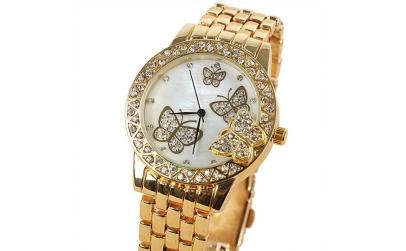 Ceas Geneva Butterfly Gold