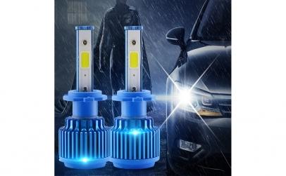 Set 2 becuri H7 LED 80W