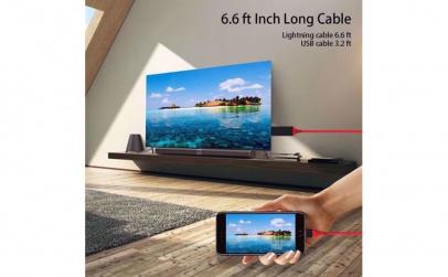 Cablu Lightning cu cablu HDMI
