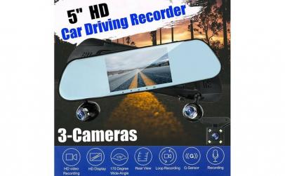 """Sistem oglinda 5"""" DVR+camera marsarier."""