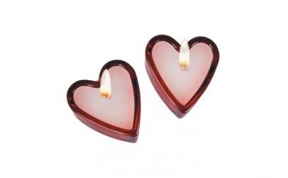 Set 2 lumanari parfumate inima