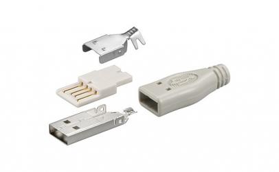 Conector USB A tata cu lipire