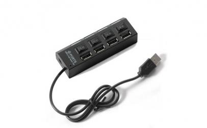 Hub USB 2.0 cu 4 porturi, intrerupator