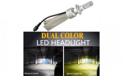 Bec LED L11 culoare duala H11