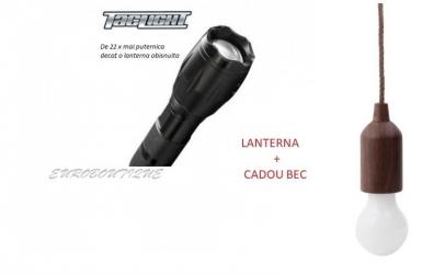 Set lanterna cu zoom + Bec cadou
