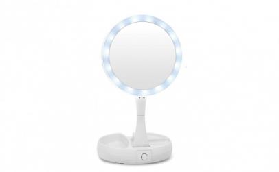Oglinda pliabila cu iluminat LED