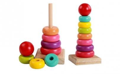 Jucarie Montessori de stivuit Piramida