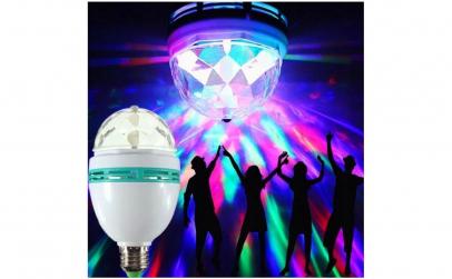 Bec rotativ colorat LED RGB