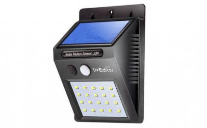 Lampa LED solara cu senzor de lumina cu