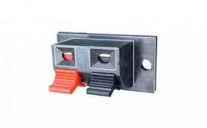 Conector boxe 2 pini, montare pe panou