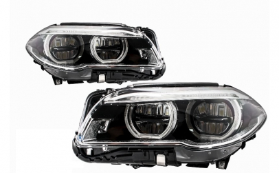 Set 2 faruri Full LED Angel Eyes BMW 5