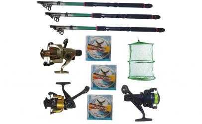 Set pescuit cu 3 lansete Eastshark 3m