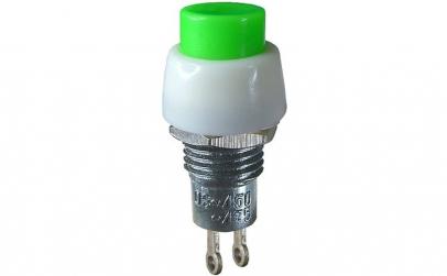 Push buton fara retinere, verde, 2A,
