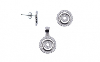 Set Argint 925 Spirala cu Zirconii