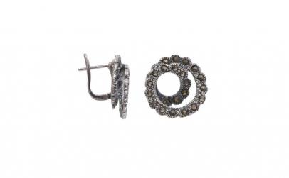 Cercei Argint 925 Spirala cu Marcasite