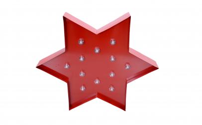 Banner decorativ cu Led Red Star, VIVO