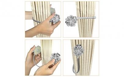 Set 2 magneti decorativi pentru perdele
