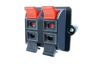 Conector boxe 4 pini, montare pe panou