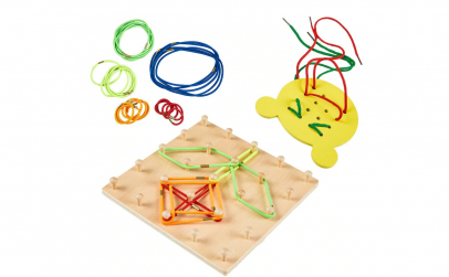 Joc lemn Montessori Geoboard
