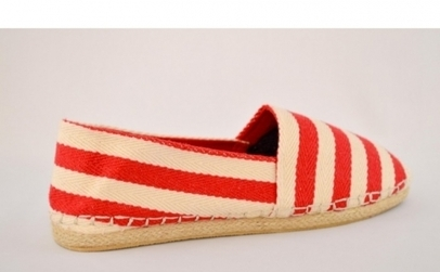Espadrile Red Stripe