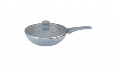 Tigaie wok 28 cm,  din aluminiu turnat