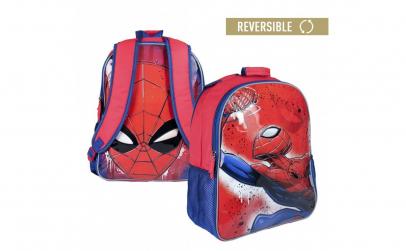 Ghiozdan scoala Spiderman cu doua fete