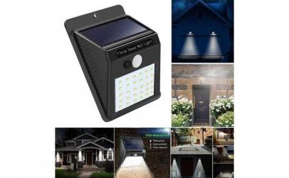 Lampa LED incarcare solara si senzor de