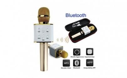 Microfon wireless karaoke, cu boxe