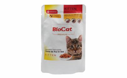 Biocat Plic Pui Si Curcan In Sos 100gr