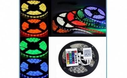 Banda RGB LED, cu telecomanda