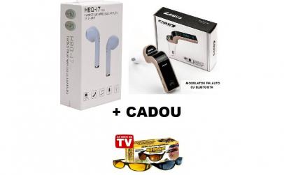 Casti i7 Wi-fi + Modulator Auto + CADOU
