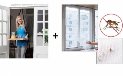 Perdea anti-insecte + plasa fereastra