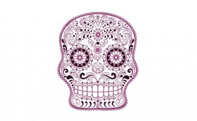 Sticker decorativ, Skull, 78 cm,