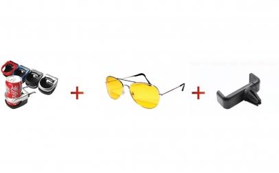 Suport pahar + ochelari condus + suport