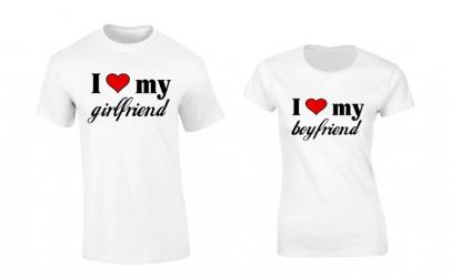 Set de tricouri pentru cuplu I love