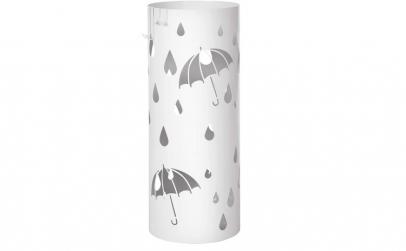 Suport umbrele Metal Alb 49 x Ø 195 cm
