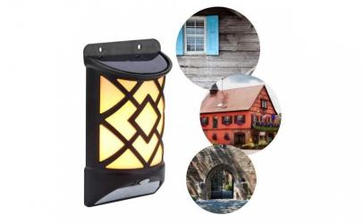 Lampa solara de perete, cu senzor