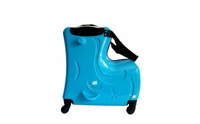 Troler din ABS cu scaunel pentru copii
