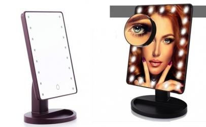 Oglinda cu LED si touch pentru machiaj