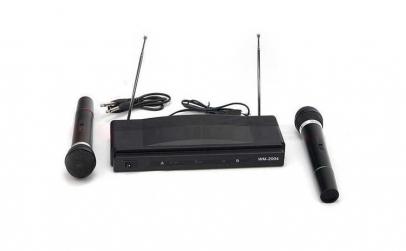 Set karaoke, 2 microfoane, cablu jack,