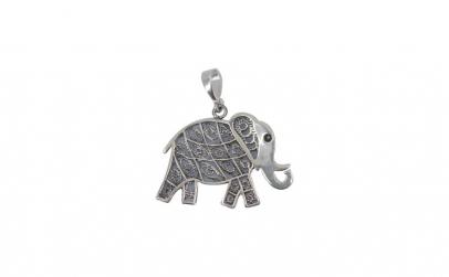 Pandantiv Argint 925 Elefant + Snur
