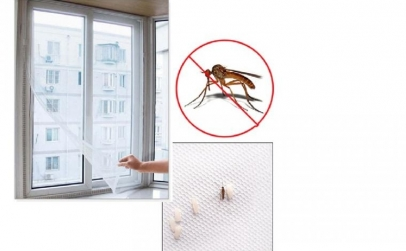 Set Anti-Insecte: perdea usa+perdea geam