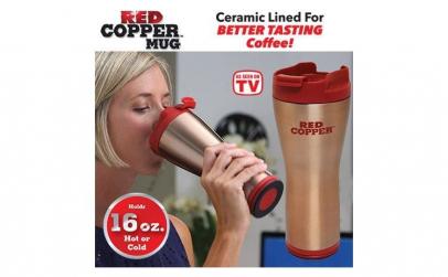 Termos Red Copper cu Smart grip si