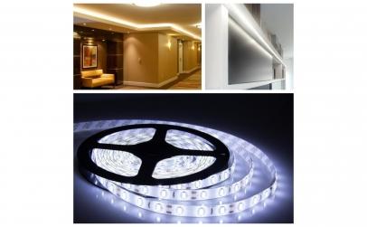 Banda LED cu lumina alba - 5 metri