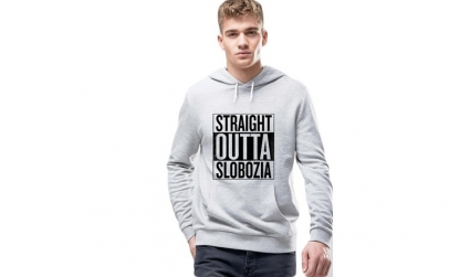 Hanorac Barbati Gri - Straight Outta