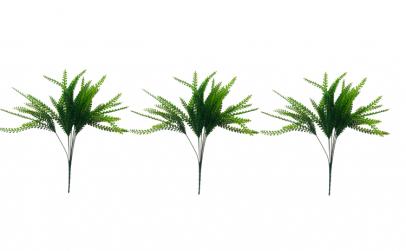 Set 3 crengute artificiale decorative,